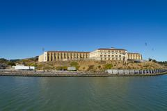 San Quentin State Prison in Marin County, California Stock Photos