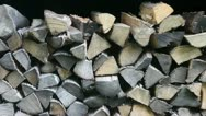 Stock Video Footage of Firewood