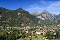Aosta valley - morgex Stock Photos