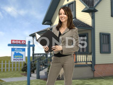 Stock photo of real estate agent