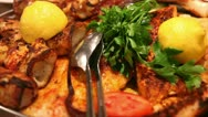Stock Video Footage of Seafood platter