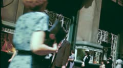 Park Avenue NYC CROWD STREET People Shoppers Late 1940s Vintage Film Movie 3737 Stock Footage