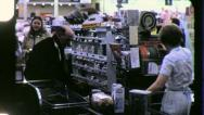 Stock Video Footage of SUPERMARKET CHECK OUT Line Clerk Grocery Store 1970 Vintage Film Home Movie 3741