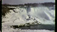 Stock Video Footage of Niagara Falls Winter Nature Scenic Circa 1957 (Vintage Film Home Movie) 3744