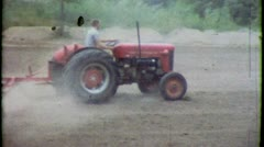 FARMER ON TRACTOR Farm Machinery 1950s (Vintage Retro Film Home Movie) 3760 Stock Footage