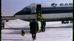 ICY TAKE OFF Passengers Boarding Airport 1950S Vintage Film Home Movie 3771 Stock Footage