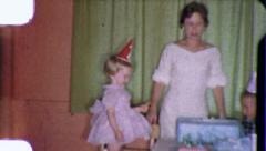LITTLE GIRL Birthday Party MOM 1970s Vintage Film Home Movie 3778 - stock footage