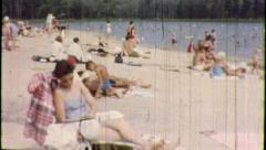 WEEKEND AT THE SHORE Beach Sun 1960s Vintage Retro Amateur Film Home Movie 3792 Stock Footage