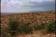 Desert southwest, New Mexico, plateau, desolate, wide shot Stock Footage