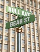 Stock market intersection Stock Photos