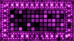 Violet glittering light bulbs loopable background Stock Footage