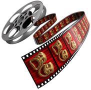 movie reel - stock illustration