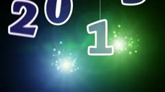 New year 2013 celebration Stock Footage