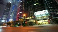 Shanghai Night, Timelapse Stock Footage