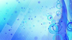 Particles lines blue loop background Stock Footage