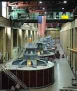 Hydroelectric turbines Stock Photos