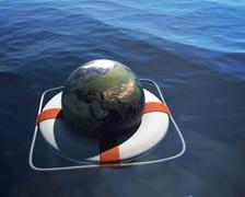 global crisis - stock illustration