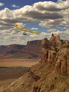 hang gliding canyon - stock photo