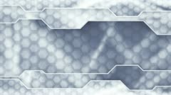 Grey technology plates background loop Stock Footage