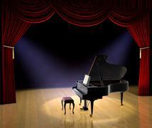 Piano concert Stock Illustration