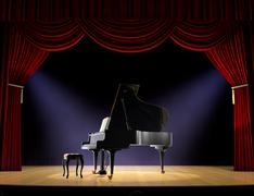 piano concert - stock illustration