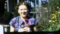 ROSE FLOWER Garden 1960 (Vintage Film 8mm Home Movie Footage Amateur) 3836 - stock footage