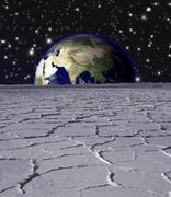 Earth rise Stock Illustration