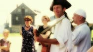 French Performers at Louisbourg Fort Stock Footage