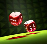 rolling the dice - stock illustration