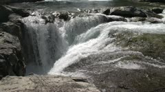Waterfall wide shot, Elbow falls in late summer Stock Footage