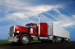 Stock Illustration of big 18 wheeler