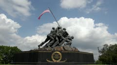 Iwo Jima Memorial in Washington DC Stock Footage