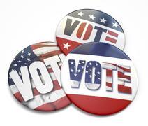 Vote button Stock Photos