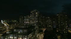 Yaletown night towers bridge Stock Footage