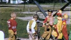 Trick or Treat KIDS HALLOWEEN Costumes 1950s Vintage Film Home Movie 3860 Stock Footage