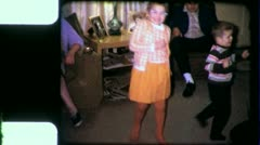 HAPPY LITTLE GIRL DANCING Party Dance Fun 1960s Vintage Film Home Movie 3865 Stock Footage