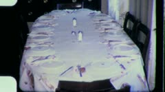 Kids Eat Apart from FAMILY KIDS Table Meal 1970s Vintage Film Home Movie 3867 Stock Footage