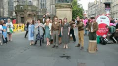 Musical at Edinburgh Festival Fringe Stock Footage