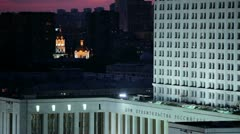 Moscow white house and church Stock Footage