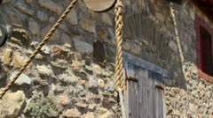 Old Stone Water Well at Fort Louisbourg Stock Footage