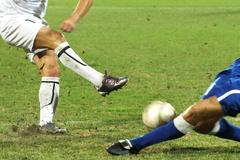 soccer  or footbal - stock photo