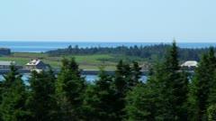 Louisbourg Fort Panning Shot Stock Footage