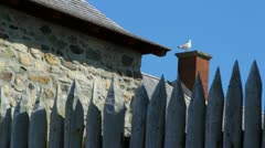Fort Wall at Louisbourg Stock Footage