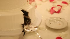 Wedding Cake Missing One Slice Stock Footage