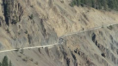Dangerous Mountain Cliff Highway Stock Footage