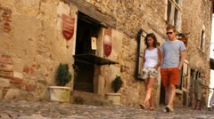 Medieval village - Perouges , near to Lyon, France Stock Footage