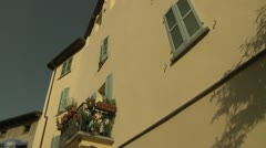 Low-Angle of Houses in Carona, Switzerland Stock Footage