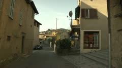 Narrow Street in Carona, Switzerland Stock Footage