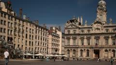 Place des Terreaux, Lyon, France - stock footage