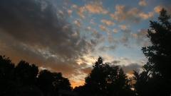 Summer Sunset Timelapse Stock Footage